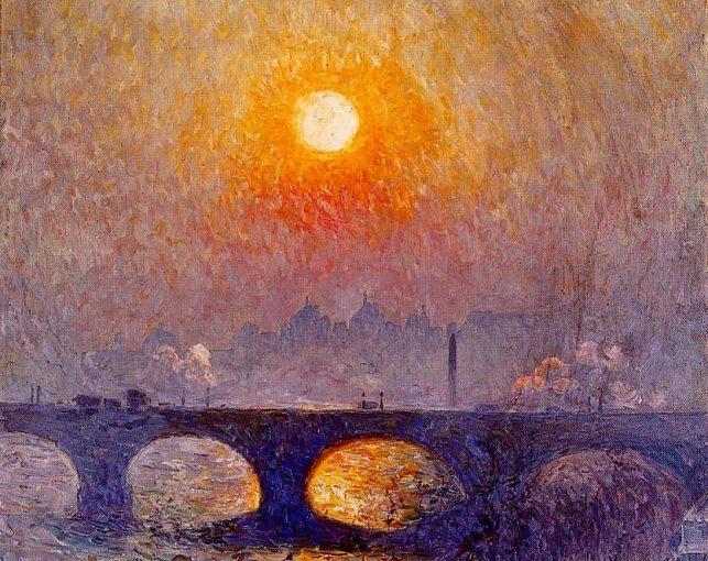 Эмиль Клаус «Восход солнца над мостом Ватерлоо»