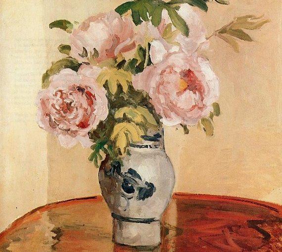 Розовые пионы Камиль Писсарро